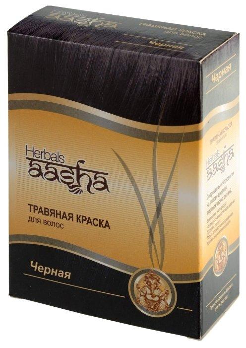 Хна Aasha Herbals с травами, оттенок Черная