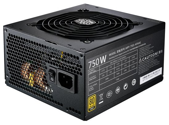 Блок питания Cooler Master MWE Gold Full Modular 750W