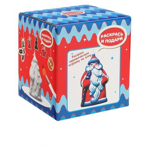 Купить Раскрась и подари Фигура для раскрашивания из керамики Дед Мороз (IG-1003), Роспись предметов