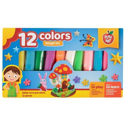 Масса для лепки Play Art набор 12 цветов (PA-3806-1) масса для лепки play art набор 8 цветов pa 3282