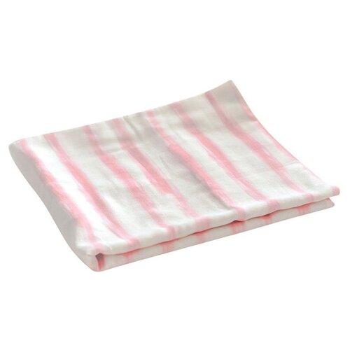 Купить Многоразовые пеленки TinyTwinkle хлопок 120х120 розовая полоска, Пеленки, клеенки