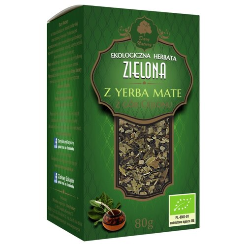 Чай зеленый Dary Natury Zielona z yerba mate, 80 гЧай<br>