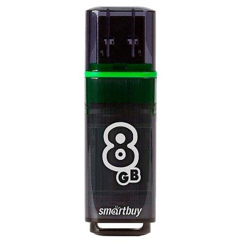 Фото - Флешка SmartBuy Glossy USB 3.0 8 GB, темно-серый флешка smartbuy glossy usb 2 0 32 gb изумрудный