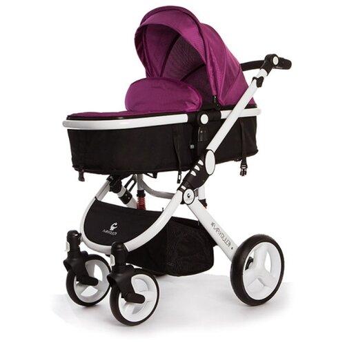 Купить Коляска-трансформер Babyruler ST166 + зимний комплект violet, Коляски