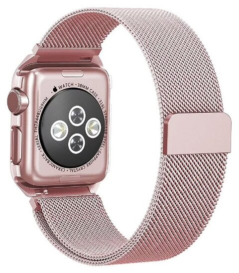Karmaso Ремешок для Apple Watch 38 мм миланская петля розовый