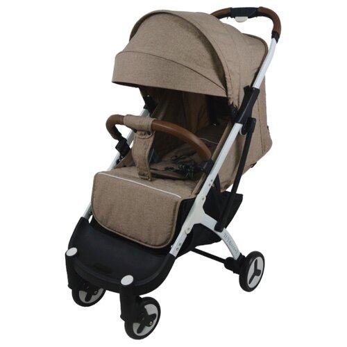 Прогулочная коляска Yoya Plus 3 (дожд., москит., подстак., бампер, сумка-чехол, бамбук. коврик, корзина д/пок, ремешок на руку, накидка на ножки) golden/white frame, цвет шасси: белый
