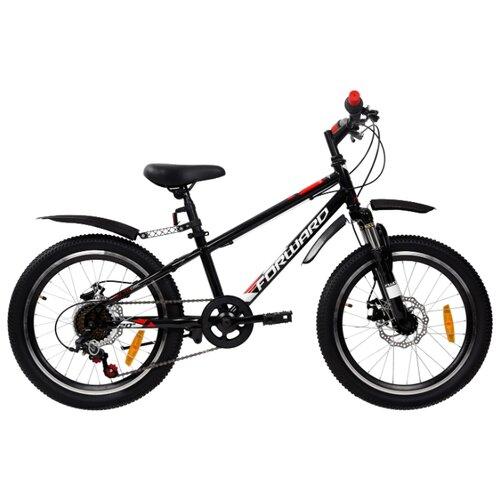 Подростковый горный (MTB) велосипед FORWARD Unit 20 3.0 Disc (2019) черный 10.5 (требует финальной сборки) unit 20 3 0 disc 2019