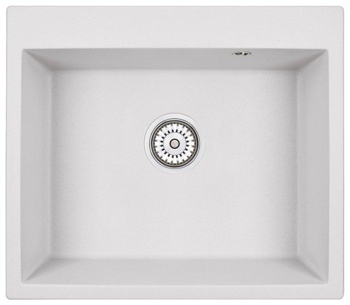 Врезная кухонная мойка Granula 6001 60х52см искусственный гранит