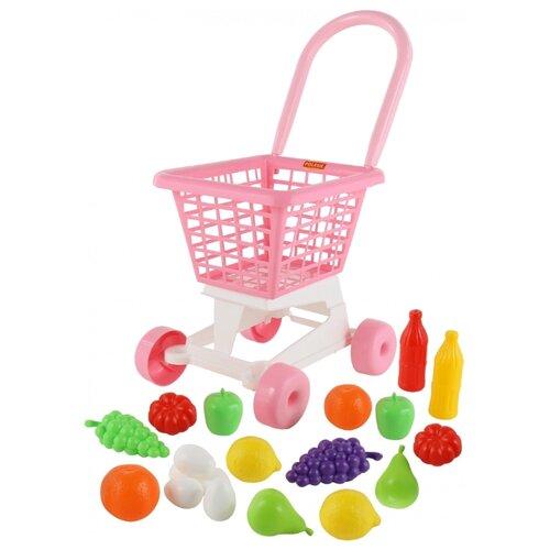 Купить Тележка для покупок Полесье Supermarket №1 + набор продуктов (68477), Играем в магазин