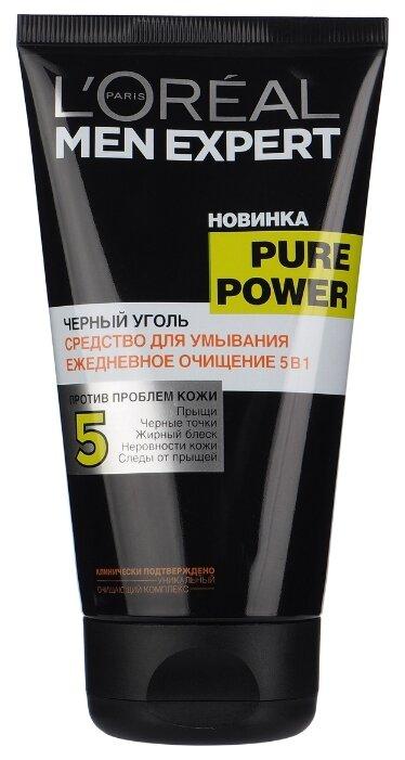 L'Oreal Paris Гель для умывания Men Expert Pure Power Черный уголь