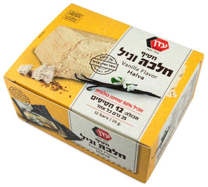 Халва PROFFI Eden кунжутная со вкусом ванили, в коробке 12 шт.