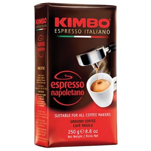 Кофе молотый Kimbo Espresso Napoletano вакуумная упаковка, 250 г кофе молотый kimbo espresso napoletano жестяная банка 250 г