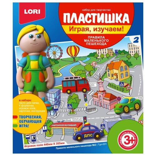 Купить Масса для лепки LORI Пластишка - Правила маленького пешехода №2 (Тдл-031), Пластилин и масса для лепки