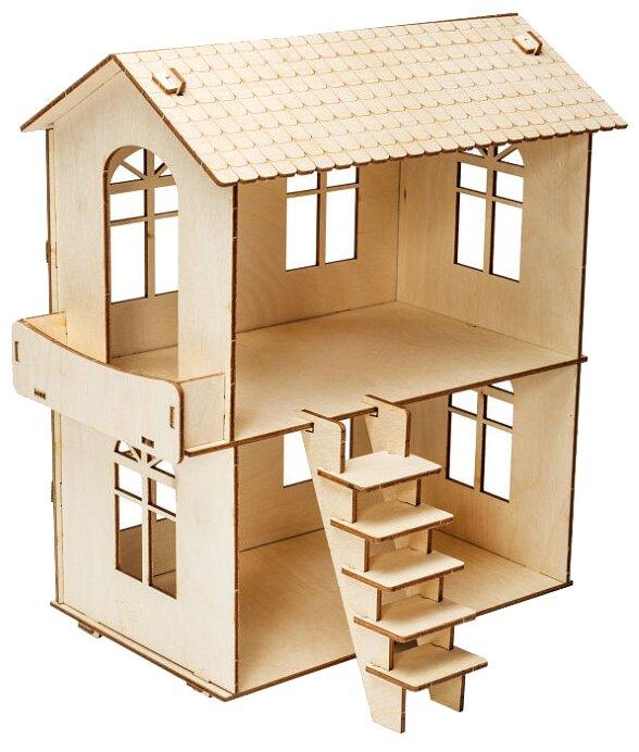 Сборная модель IQ Format Домик для кукол с балконом,,