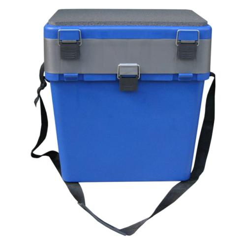 Ящик для рыбалки HELIOS Ящик-М двухсекционный 36х23х39см синий