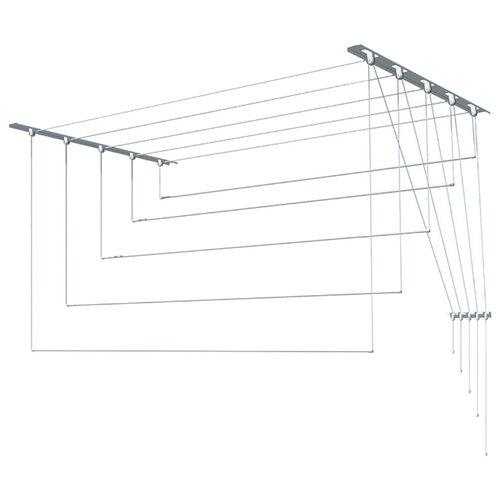 Сушилка для белья Лиана настенно-потолочная металлическая 1,6 м металлик