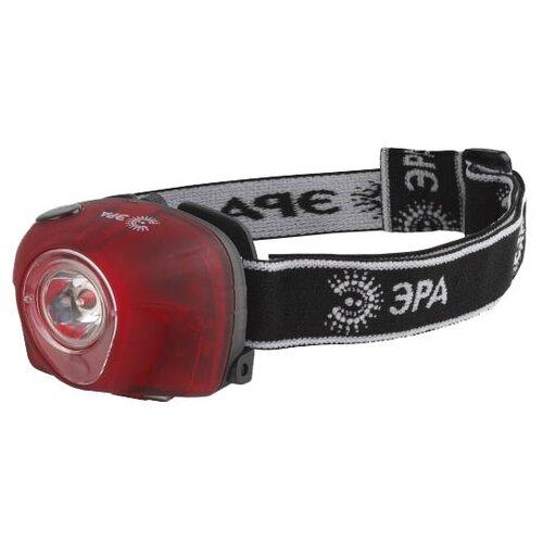 Налобный фонарь ЭРА G3W красный