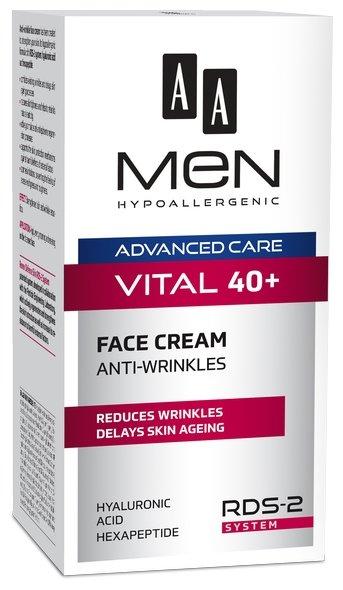 AA Крем для лица от морщин Men Advanced Care Vital 40+
