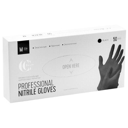 Lucas' Cosmetics Перчатки нитриловые черные 50 шт. S