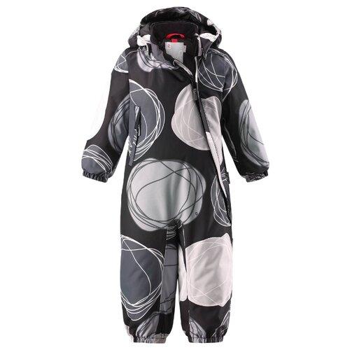 Купить Комбинезон Reima Loska 510268 размер 80, черный/серый, Теплые комбинезоны