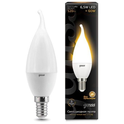Лампа светодиодная gauss 104101107, E14, CA35, 6.5Вт лампа светодиодная gauss 104801005 e14 ca35 5вт