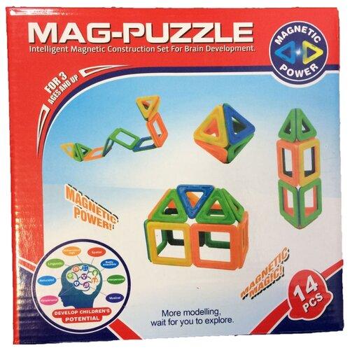 Магнитный конструктор Shantou Gepai Mag-Puzzle ZB16A магнитный конструктор shantou gepai играй и создавай 56 элементов