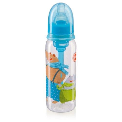 Happy Baby Бутылочка антиколиковая, узкое горло, 250 мл (10015) с рождения, skyБутылочки и ниблеры<br>