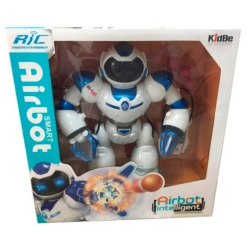Купить Интерактивная игрушка робот Shantou Gepai Airbot A998224M-W бело-синий, Роботы и трансформеры