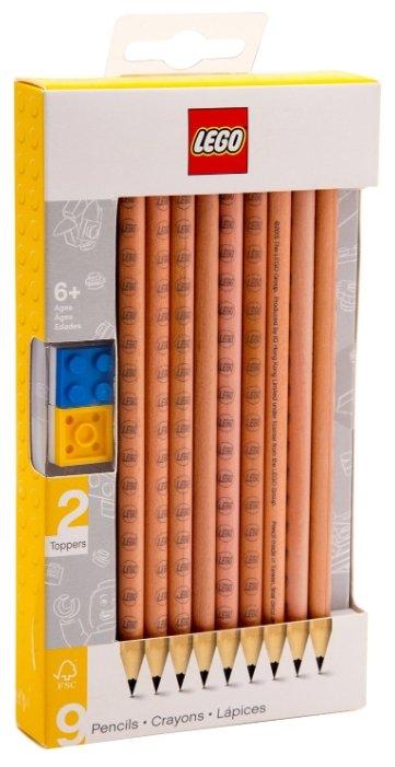 LEGO Набор чернографитных карандашей 9 шт (51504)