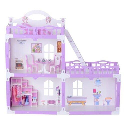 KRASATOYS кукольный домик Анна 000269, бело-сиреневыйКукольные домики<br>