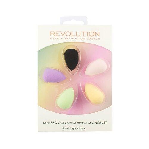 Набор спонжей REVOLUTION Mini Pro Colour Correct Sponge Set, 5 шт. разноцветные недорого