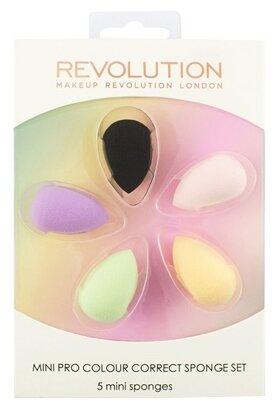Набор спонжей REVOLUTION Mini Pro Colour Correct Sponge Set, 5 шт.