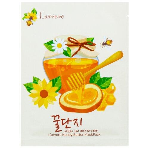 Larvore Тканевая маска с медом и пептидами Honey butter mask pack, 25 гМаски<br>