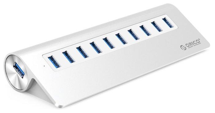 USB-концентратор ORICO M3H10, разъемов: 10