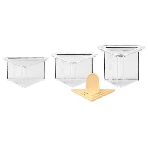 Форма кулинарная Tescoma PRESTO FoodStyle треугольники 422216, 3 шт. бесцветный/желтый игла кулинарная tescoma presto 420582