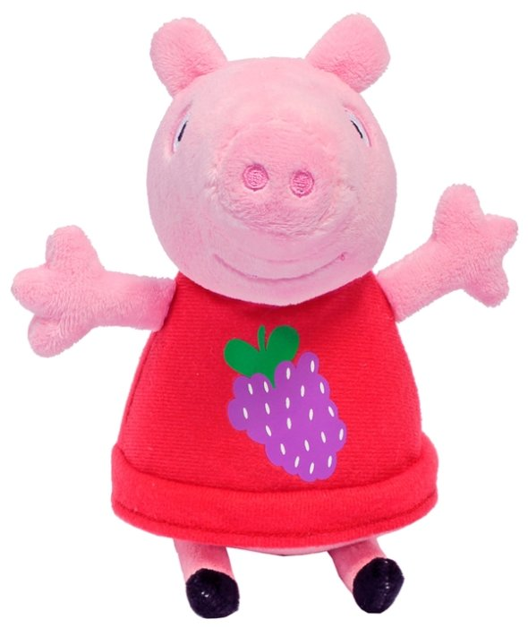 Мягкая игрушка РОСМЭН Peppa pig Пеппа с виноградом 20 см