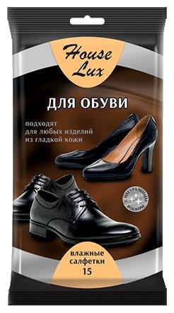 House Lux влажные салфетки для обуви и любых изделий из гладкой кожи
