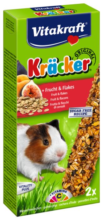 Лакомство для грызунов Vitakraft Крекеры Original с фруктами и хлопьями