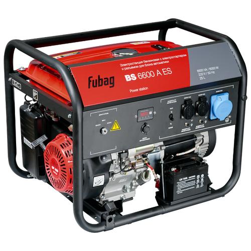 Бензиновый генератор Fubag BS 6600 A ES (6000 Вт) бензиновый генератор fubag bs 6600 a es 6000 вт