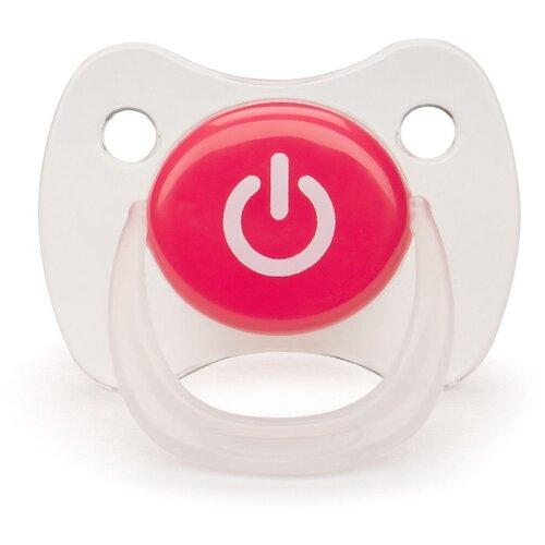 Пустышка силиконовая ортодонтическая Happy Baby Baby Pacifier 0-12 м (1 шт) красныйПустышки и аксессуары<br>