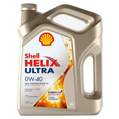 Моторное масло SHELL Helix Ultra 0W-40 4 л масло моторное shell helix ultra sn 0w 20 4 л