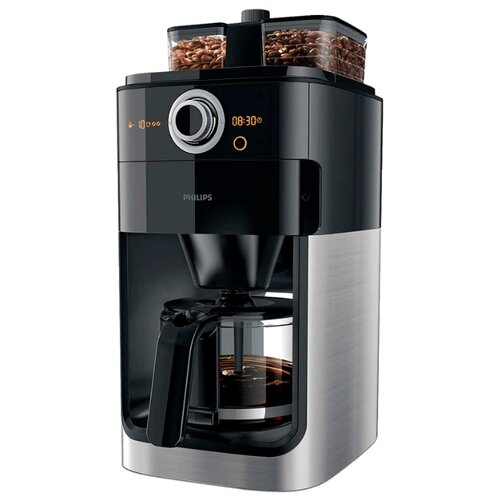 Кофеварка Philips HD7769 Grind & Brew черный/металлик coffee maker philips grind
