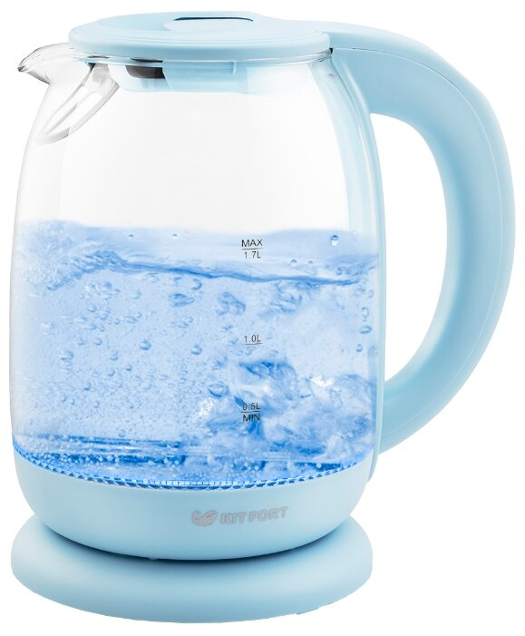 Чайник Kitfort KT-640-1, голубой