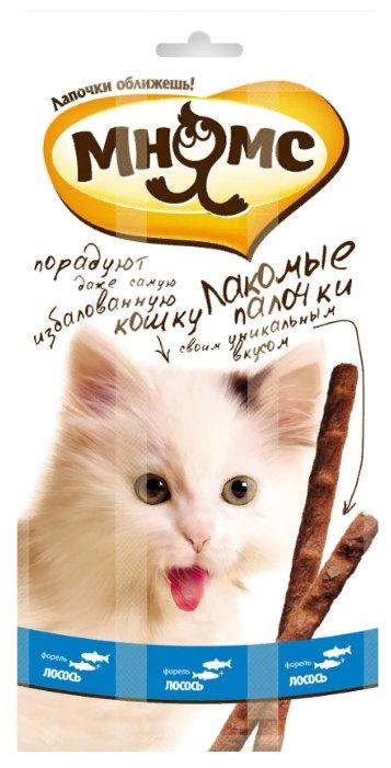 Лакомство для кошек Мнямс Лакомые палочки Лосось, форель
