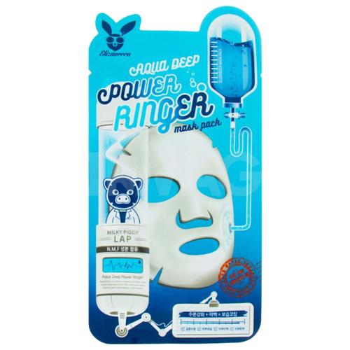 Elizavecca Увлажняющая тканевая маска Aqua Deep Power Ringer Mask Pack, 23 млМаски<br>