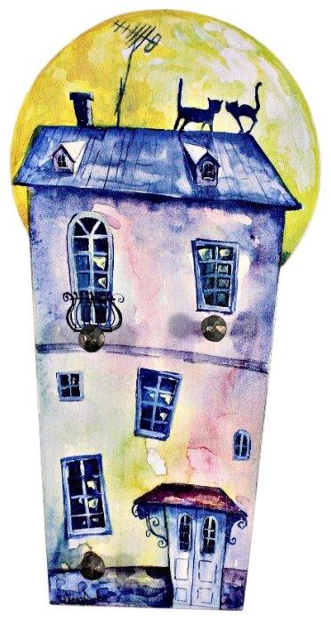 Ключница elf Песни под луной, 23х12 см разноцветный
