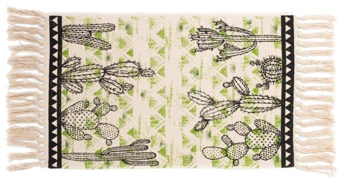 Декоративный коврик Этель Кактусы, размер: 0.7х0.45 м, бежевый/черный/зеленый