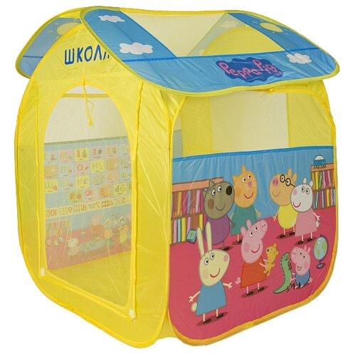 Купить Палатка РОСМЭН Учим азбуку с Пеппой 30010 желтый, Игровые домики и палатки