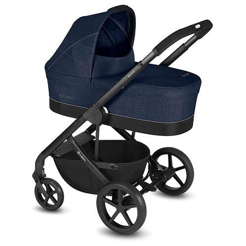 Универсальная коляска Cybex Balios S (2 в 1), с дождевиком denim blue коляска прогулочная cybex balios s denim denim blue с дождевиком