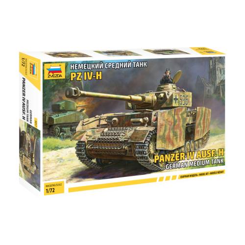 цена на Сборная модель ZVEZDA Немецкий средний танк PZ IV-H (5017) 1:72